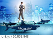 Купить «Businessman successfully dealing with his problems», фото № 30838848, снято 26 мая 2020 г. (c) Elnur / Фотобанк Лори