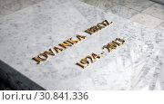 Купить «Могила Йованке Броз Тито в мавзолее. Дом цветов. Белград. Сербия», фото № 30841336, снято 1 мая 2019 г. (c) Сергей Афанасьев / Фотобанк Лори