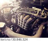 Купить «car engine close up», фото № 30846324, снято 1 июля 2016 г. (c) Syda Productions / Фотобанк Лори