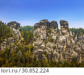 Views of the national park Saxon Switzerland of Bastei. Germany (2014 год). Стоковое фото, фотограф Наталья Волкова / Фотобанк Лори