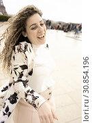 Купить «Woman, in Paris, France.», фото № 30854196, снято 9 марта 2019 г. (c) age Fotostock / Фотобанк Лори