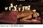 Купить «Girl on massage tone image sepia», фото № 30855564, снято 19 ноября 2019 г. (c) Gennadiy Poznyakov / Фотобанк Лори