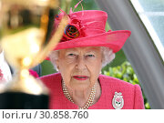 Royal Ascot, Grossbritannien, Portrait of HRH Queen Elizabeth the Second (2018 год). Редакционное фото, агентство Caro Photoagency / Фотобанк Лори