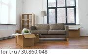 Купить «man arranging room at new home», видеоролик № 30860048, снято 24 мая 2019 г. (c) Syda Productions / Фотобанк Лори