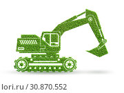 Купить «Green low emission electic vehicle concept - 3d rendering», фото № 30870552, снято 25 июня 2019 г. (c) Elnur / Фотобанк Лори