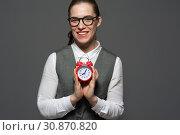 Купить «Just in time concept.», фото № 30870820, снято 21 декабря 2017 г. (c) Pavel Biryukov / Фотобанк Лори