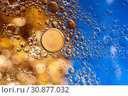 Купить «Colourful oil ink bubbles and drops. Abstract template mixed texture background. Wallpaper pattern.», фото № 30877032, снято 3 июня 2019 г. (c) bashta / Фотобанк Лори