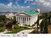 Купить «Bahai gardens, the building of the International archives in Haifa, Israel», фото № 30887896, снято 16 апреля 2012 г. (c) Наталья Волкова / Фотобанк Лори