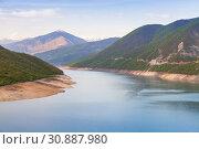 Купить «Zhinvali reservoir. Georgian landscape», фото № 30887980, снято 1 мая 2019 г. (c) EugeneSergeev / Фотобанк Лори