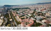 Купить «Image of seaside of Barcelona outdoors.», видеоролик № 30888604, снято 24 июля 2018 г. (c) Яков Филимонов / Фотобанк Лори