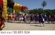 Купить «Parade of historical units of Catalan armies passed on National Day of Catalonia in Parc de la Ciutadella», видеоролик № 30891924, снято 11 сентября 2018 г. (c) Яков Филимонов / Фотобанк Лори