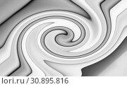 Купить «Abstract light background with curved gray lines», фото № 30895816, снято 1 июня 2018 г. (c) Galina Tolochko / Фотобанк Лори