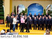 Freiwillige Feuerwehr Ladenburg in der ARD-TV-Sendung. Стоковое фото, фотограф Zoonar.com/Joachim Hahne / age Fotostock / Фотобанк Лори