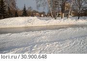 Купить «Winter landscape of the open city Park with ice skating track.», фото № 30900648, снято 5 января 2019 г. (c) easy Fotostock / Фотобанк Лори