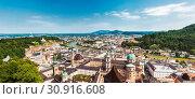 Panoramic view of beautiful city of Salzburg in Austria. Стоковое фото, фотограф Zoonar.com/Tomas Anderson / easy Fotostock / Фотобанк Лори