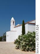Chapel of John Baptist. Costa Brava, Catalonia, Spain. Mountain of castle San Juan (2013 год). Стоковое фото, фотограф Анна Иноземцева / Фотобанк Лори