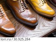 Купить «men footwear boutique store», фото № 30925284, снято 21 июля 2019 г. (c) Сергей Петерман / Фотобанк Лори