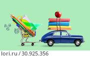 Купить «Back to school car animation», видеоролик № 30925356, снято 6 июня 2019 г. (c) Сергей Петерман / Фотобанк Лори