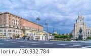 Купить «Триумфальная площадь (бывшая Маяковская) вечером. Москва. 2019 год», фото № 30932784, снято 12 июня 2019 г. (c) Виктор Тараканов / Фотобанк Лори