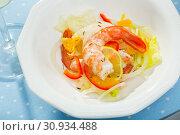 Купить «Tasty ceviche with tiger shrimps», фото № 30934488, снято 16 июля 2019 г. (c) Яков Филимонов / Фотобанк Лори