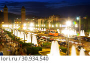 Купить «Plaza de Espana in Barcelona, Spain», фото № 30934540, снято 24 июля 2016 г. (c) Яков Филимонов / Фотобанк Лори