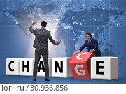 Купить «Businessman taking chance for change», фото № 30936856, снято 13 декабря 2019 г. (c) Elnur / Фотобанк Лори