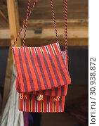 Купить «Traditional style handmade woven bags made of fabric», фото № 30938872, снято 14 мая 2017 г. (c) easy Fotostock / Фотобанк Лори