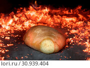 Купить «Baking in the Traditional Bread Oven with Live Coals», фото № 30939404, снято 26 мая 2020 г. (c) easy Fotostock / Фотобанк Лори