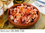 Купить «Spanish tapas - pig ears with paprika», фото № 30949736, снято 11 июля 2020 г. (c) Яков Филимонов / Фотобанк Лори