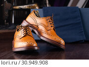 Купить «men footwear boutique store», фото № 30949908, снято 22 июля 2019 г. (c) Сергей Петерман / Фотобанк Лори