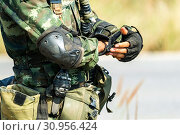 Купить «Soldier preparation ready for war and combat and eaiting command.», фото № 30956424, снято 26 января 2018 г. (c) easy Fotostock / Фотобанк Лори