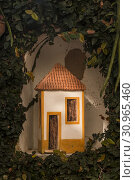 Купить «Curious ceramic tiny house in Portuguese style in a garden.», фото № 30965460, снято 8 декабря 2017 г. (c) easy Fotostock / Фотобанк Лори