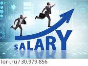 Купить «Concept of increasing salary with businessman», фото № 30979856, снято 29 мая 2020 г. (c) Elnur / Фотобанк Лори
