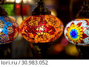 Beautiful lamps made with colored crystals. Стоковое фото, фотограф Zoonar.com/Fernando Cort / easy Fotostock / Фотобанк Лори