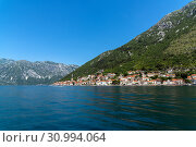 Купить «Herceg Novi old town in Perast bay in Montenegro», фото № 30994064, снято 10 июня 2019 г. (c) Володина Ольга / Фотобанк Лори