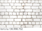 Купить «White Background Brick Wall Texture Seamless Pattern», фото № 30998732, снято 11 февраля 2019 г. (c) Иван Карпов / Фотобанк Лори