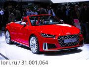 Купить «Audi TTS», фото № 31001064, снято 11 марта 2019 г. (c) Art Konovalov / Фотобанк Лори