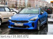 Купить «Kia Stinger», фото № 31001072, снято 17 июня 2019 г. (c) Art Konovalov / Фотобанк Лори