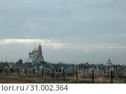 Кладбище у церкви. Стоковое фото, фотограф Бежская Ольга Анатольевна / Фотобанк Лори