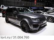 Купить «Range Rover», фото № 31004760, снято 10 марта 2019 г. (c) Art Konovalov / Фотобанк Лори
