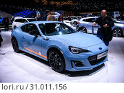 Купить «Subaru BRZ», фото № 31011156, снято 11 марта 2019 г. (c) Art Konovalov / Фотобанк Лори