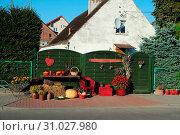 Купить «Erntedank Dekoration in Pommern», фото № 31027980, снято 22 июля 2019 г. (c) easy Fotostock / Фотобанк Лори
