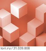 Купить «Geometric cubes installation, abstract», иллюстрация № 31039808 (c) EugeneSergeev / Фотобанк Лори