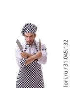 Купить «Male cook isolated on the white background», фото № 31045132, снято 6 июля 2017 г. (c) Elnur / Фотобанк Лори