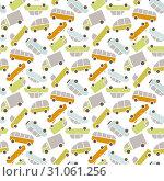 Vector cars pattern. Стоковая иллюстрация, иллюстратор Альдана Прокофьева / Фотобанк Лори