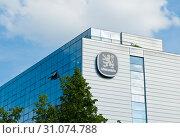 Купить «Лого Löwenbräu на здании. Мюнхен. Бавария. Германия», фото № 31074788, снято 17 июня 2019 г. (c) Екатерина Овсянникова / Фотобанк Лори