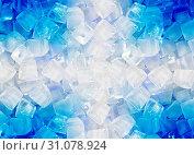 Купить «Background of ice cubes», фото № 31078924, снято 8 мая 2011 г. (c) easy Fotostock / Фотобанк Лори