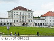 Дворец Нимфенбург (Schloss Nymphenburg). Летний день. Мюнхен. Бавария. Германия (2019 год). Редакционное фото, фотограф E. O. / Фотобанк Лори