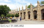 Кисловодск, Нарзанная галерея (архитектор С.Уптон, 1856) (2019 год). Редакционное фото, фотограф Валерий Шилов / Фотобанк Лори