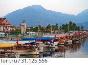Купить «Пристань для лодок в Чалыше, Фетхие, Турция», фото № 31125556, снято 20 июня 2019 г. (c) Natalya Sidorova / Фотобанк Лори
